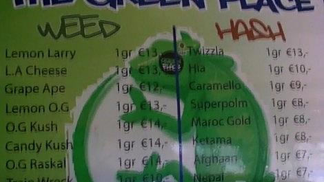 The Green Place Coffeeshop Menu January 2011