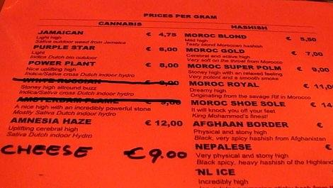 Rusland Coffeeshop Menu January 2011