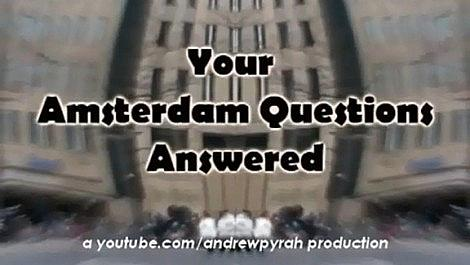 Your Amsterdam Questions Answered - 2 - Bongs and Coffeeshops
