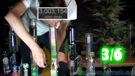 6 Bong Gauntlet of Kosher Kush for 3 Million Views!