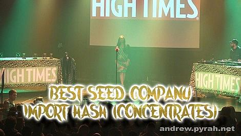 Best Seed Company Import Hash (Concentrates) - Amsterdam Cannabis Cup Award Winners 2014