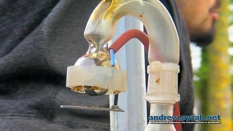 BHO Amber Glass Verdamper Vaporizer Electric Vapor Skillet at Cannabis Liberation Day Amsterdam 2013
