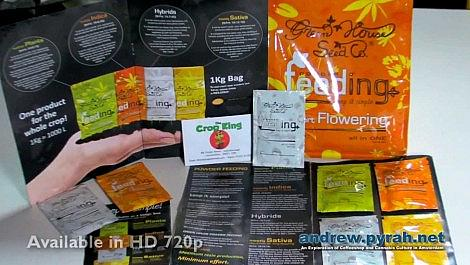 Green House Seed Company Powder Feeding & The Crop King UK Growshop