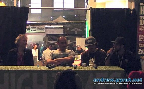 """Hash 101"" with El Gato, Mila, Doug of Hitman Glass and Nikka T of Essential Extracts – 2013 Cannabis Cup Amsterdam"