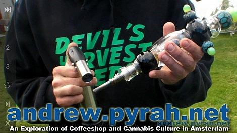 Nectar Collector Dabs with Devils Harvest at Cannabis Liberation Day 2014 Amsterdam