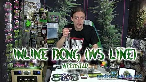 New Glass! Weed Star WS Line Inline Bong Review - Amsterdam Weed Review