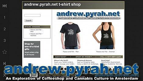 PEACE AND POT T SHIRTS NOW AVAILABLE! - Amsterdam Weed Review & Amsterdam Coffeeshop Tour