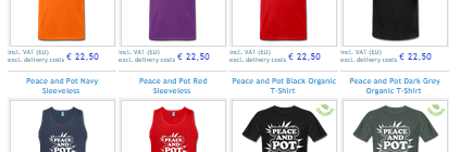 New Peace and Pot T-Shirts Now Available