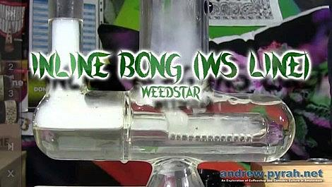 Slow Motion Bong Hits Weed Star WS Line Inline Bong