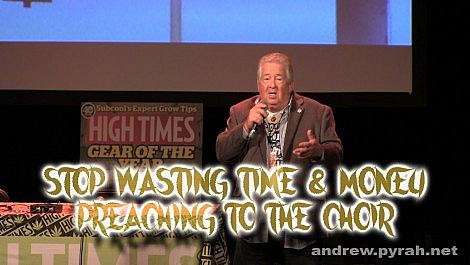 Stop Preaching to the Choir with Robert Platshorn PART TWO Amsterdam Cannabis Cup Seminar 2014