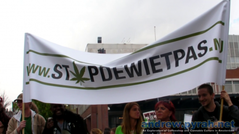 Amsterdam 420 Smoke Out Protest 2012 - STOP THE WEED PASS!