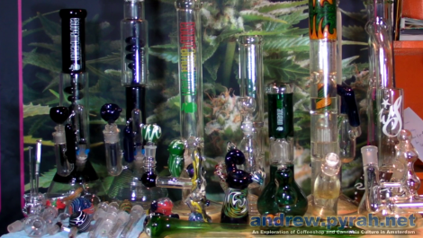 My Glass Bong & Pipe Collection - Amsterdam Weed Review / andrew.pyrah.net