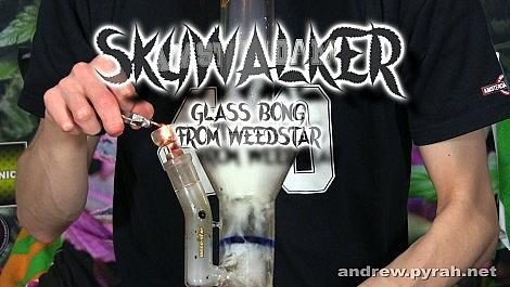 Weed Star Skywalker Glass Bong Review - Amsterdam Weed Review 2015